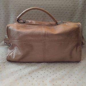 Handbags - Rose Gold Vegan Leather Satchel Bag